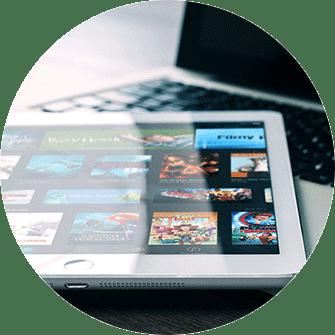 iPad mit Appstore, Mac Book, neue Apps