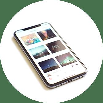 Smartphone, schwarz, neue Apps