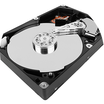 Festplatte geöffnet, 3,5 Zoll Festplatte, HDD