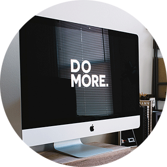 iMac, Webseite Do More, Monitor dunkel