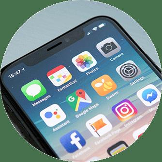 iPhone X, Telefon, Smartphone, schwarz, mobile Apps, Übersicht