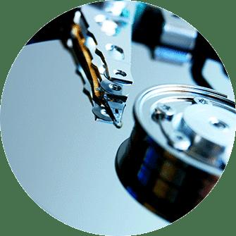 Festplatte geöffnet, Festplatte Lesekopf, Schreibkopf, 3,5 Zoll Festplatte