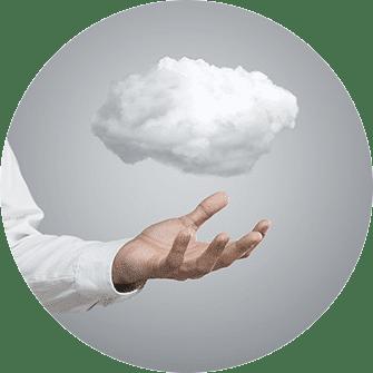 Daten in der Cloud, Cloud, Wolke, weisse Wolke, Hand,