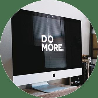 Web-Design Graz, Werbe-Agentur Graz, Mac Pro, Monitor Hintergrund schwarz