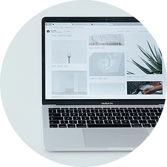 Responsive Webshop, Mac Book, Hintergrund grau