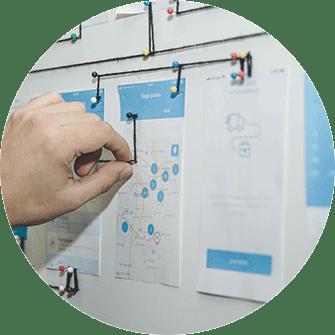 Webdesign und App Inhalte optimieren, Hand, Web view optimieren